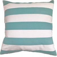 Wholesale Green Stripe Printed Pillow Cushion Covers , Decorative Pillow Covers from china suppliers