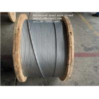 Wholesale ASTM B498 Galvanized Guy Wire , 1*7 1*19 Galvanized Wire Rope With Strong Adhesion from china suppliers
