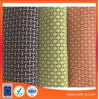 China 8X8 woven style textilene mesh fabric in PVC coated wire mix three colors suit outdoor for sale