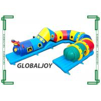 Wholesale Large Inflatable Bouncer Tunnel , Inflatable Caterpillar Play Tube For Kids from china suppliers
