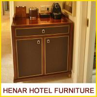 China Wooden 5 Star Hotel Room Furniture Refrigerator Cabinet / Mahogany Fridge Cabinet on sale