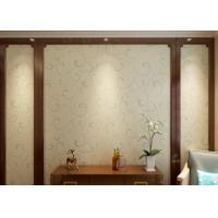 Buy cheap Embossed Vinyl Interior Decorating Wallpaper , Silver and Green Contemporary Wallpaper from wholesalers