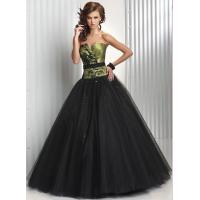 Wholesale Empire V Neckline Long Wormens Party Dresses , Tulle Evening Gown from china suppliers