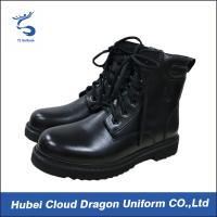 Wholesale Tactical Genuine Leather Security Guard Footwear , Durable Police Uniform Boots from china suppliers