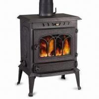 Wholesale 57.5 x 56 x 83cm Cast Iron Stove with 15cm Flue, Ash Box and Grate from china suppliers