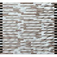 Wholesale Brown silver linear mosaic metal no gap pattern for wall and boarder decoration from china suppliers