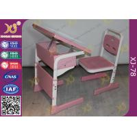 Wholesale Single Student Childs School Desk And Chair With Adjustable White Sketch Board from china suppliers