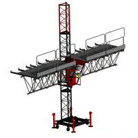 Buy cheap Aerial Single Lifting Mast Climbing Work Platform for Building Decoration 150m Height from wholesalers