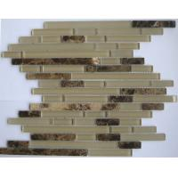 Quality 300x300mm Decorative Natural Stone Mosaic Tiles, Crystal Glass Mosaic Wall Tile for sale