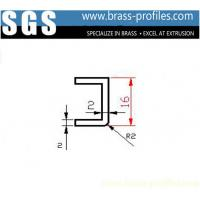 Wholesale External Dimensions 16mm x 2mm Extruded Brass U Shaped Channel from china suppliers