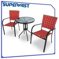 Wholesale Multi Color Selection Outdoor Round Cafe Table And Chairs Patio Cross Weave Chair Bstro Set from china suppliers