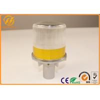 Wholesale Aluminum Safety Solar Led Flashing Warning Lights White / Yellow / Red / Blue from china suppliers