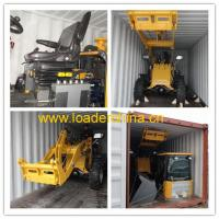 Wholesale 1T mini wheel loader with snow bucket from china suppliers