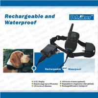 Wholesale Black Waterproof Remote Pet Training Collar LCD Displays With 300 Meters Range from china suppliers