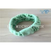 Wholesale Green Color Microfiber Towel Fabric Chasp Hair Band For Bath Or Washing Face Using from china suppliers