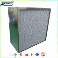 Quality Industrial 99.99% HVAC Galvanized Frame Pleated Hepa Air Filters for Laboratory for sale
