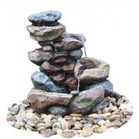 Quality Decorative Tower Hand Cast Rock Water Fountains OEM Acceptable for sale