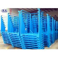 Wholesale Heavy Duty Steel Stacking Racks Blue Metal 4 Layers For Crops Storage from china suppliers