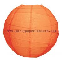 Quality 8 Inch Mango Orange Paper Lantern For Parties , Round Hanging Party Lanterns for sale