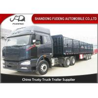 Wholesale Top - Class Steel Frames 3 Axles Side Wall Semi Trailer With Advanced LED Light from china suppliers