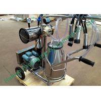 Wholesale Manual Single Bucket Mobile Milking Machine for Dairy Cow Farms from china suppliers