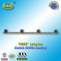 Wholesale Metal coffin bar Ref H023 zamak coffin long bar metal herrajes de ataudes 1.55 meter with 4 bases from china suppliers
