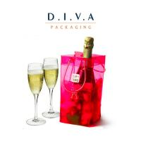 Wholesale Durable plastic pvc water resistant chiller cooler wine bottle ice bag with tube handles from china suppliers