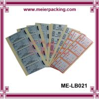 Wholesale Full Sheet Labels - Printable Sticker Paper/CustomSquare QC Pass Paper Label & Sticker ME-LB021 from china suppliers