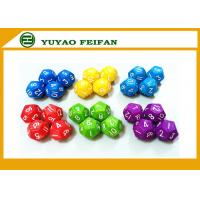 Wholesale 18 Different Colors Assorted Colored Polyhedral RPG Dice Game Set 126pcs from china suppliers