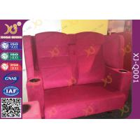 Wholesale Wooden Frame Fabric Cover VIP Cinema Seating With Armrest / Home Cinema Sofa Seating from china suppliers