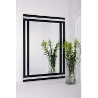 Decorative wall mirrors bathroom mirror white and black for White framed mirrors for sale