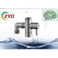 Buy cheap 1/2MX3/4MX3/4F Shower Room Accessory Brass Chrome Plated Three Way T-adapter Toilet Bidet Water Diverter Valve from wholesalers