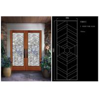 Wholesale Double Pane Sliding Glass Door Hollow Stained Glass Panels Air / Argon Insulating from china suppliers