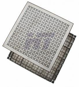 Quality Square HPL Aluminum Raised Floor , Antistatic Removable Flooring for sale