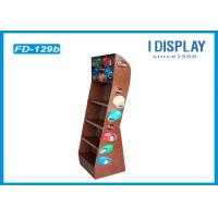 Quality 4 Tiers Skin Care Cardboard Product Display Stands Offset Printing for sale