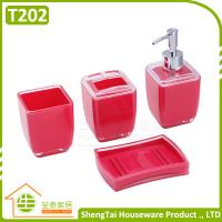Wholesale Bathroom Supplier Square Shape Useful Hotel Decorative Bath Set from china suppliers
