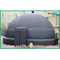 Quality 6m DIA Black Mobile Inflatable Planetarium Dome Projection Tent With Air Blower for sale