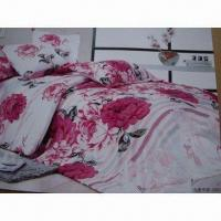 Wholesale Three-piece Microfiber Bedding Set, Soft and Smooth, Customized Designs and Sizes are Accepted from china suppliers