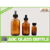 Wholesale 4oz 2oz 1oz 1/2oz 120ml 60 ml 30ml 15ml Amber Boston Round Glass Bottle For Essential Oil Use from china suppliers