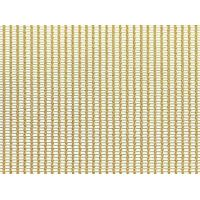 A piece of brass cable metal mesh on the white background.