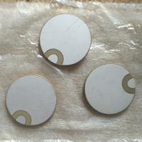 Wholesale 30x2mm Curl Edge Piezo Ceramic Element Positive / Negative In One Side from china suppliers