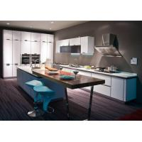 Quality Euro Style Green PVC Kitchen Cabinet for sale
