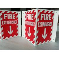 Wholesale 3D Triangle Mount Personalized Outdoor Metal Signs , V Sharp  Fire Extinguisher Sign from china suppliers