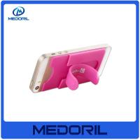 Buy cheap Custom print 3M adhesive silicone smart wallet mobile card holder from wholesalers
