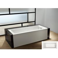Wholesale cUPC skirted acrylic small bathtub 3 sides tile flange 4mm pure acrylic sheet from china suppliers