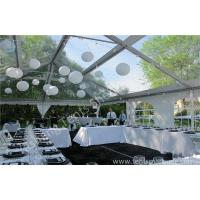 Wholesale Beautiful Transparent Fabric clear top tent rental , outdoor party tents Decorated with Lantern from china suppliers