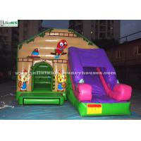 Wholesale Commercial Jungle Combo Inflatable Bouncy Castles With Slide For Outdoor Use from china suppliers