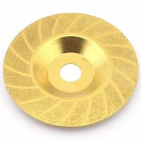 China Titanium 4 Grinding Discs Diamond Cup Wheel Convex Threading Angle Grinder on sale