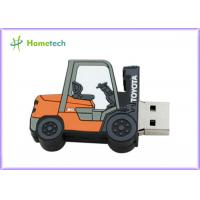 Forklift Style 64g Customized Usb Flash Drive / Pen Drive Usb 2.0 Support Windows ME / XP