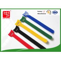 Wholesale 160 * 12mm colored hook and loop cable ties with small hole Heat resistance from china suppliers